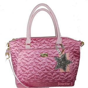 BETSEY JOHNSON QUILTED STARS CROSSBODY SATCHEL